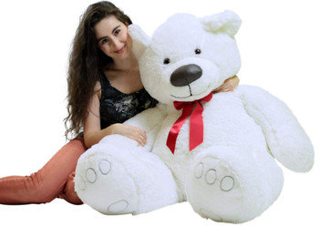Big Plush Giant 5 Foot Teddy Bear Soft White Stuffed Animal Made in the USA