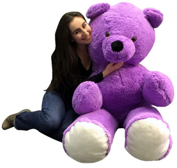 Big Plush 6 Foot Purple Teddy Bear Soft 72 Inch Life Size Stuffed Animal Made in USA