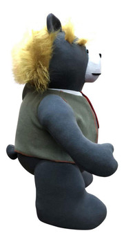 Trump Teddy Bear Presidential Size 30 Inches Giant Stuffed Plushie with Removable Vest Made in the USA (Charcoal Gray Color)