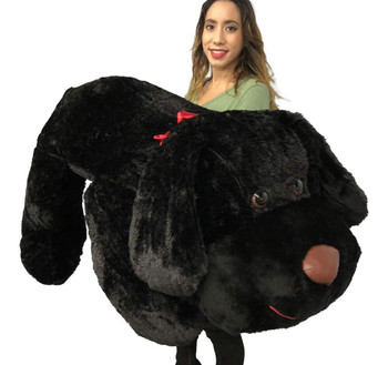 a47b6251e7d Giant Stuffed Puppy Dog 5 Feet Long Squishy Soft Extremely Large Plush Black  Color