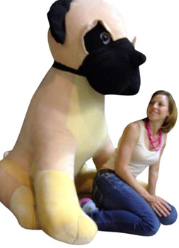 Giant Stuffed Dog Pug 5 Feet Tall Soft 60 Inches Huge Big Plush Animal