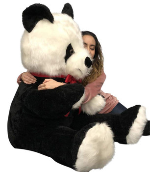 Big Plush 6 Foot Stuffed Panda Bear, Giant Six Feet Tall Teddy Bear Huge Soft Plush Animal Made in USA