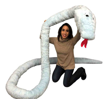 Big Plush American Made Huge Stuffed Snake 18 Feet Long Big Plush Sky Blue Color Serpent Made in USA