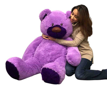 Big Plush 5 Foot Purple Berry Patch Teddy Bear  60 Inch Large Stuffed Animal Made in USA