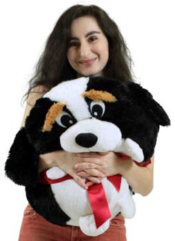 Big Plush Puppy Dog Smush Ball Soft 24 Inch Soft Stuffed Dog