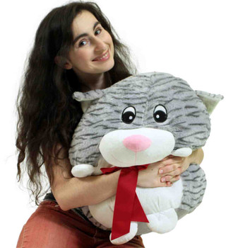 Big Plush Cat Smush Ball Soft 24 Inches Soft Stuffed Animal Plushie