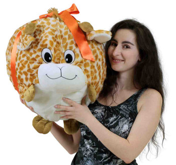 Big Plush Giraffe Smush Ball Soft 24 Inches Soft Stuffed Animal Plushie