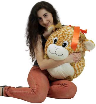 Big Plush Giraffe Smush Ball Soft 24 Inches Soft Stuffed Animal Plushie