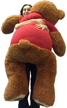 Big Plush® 5 Foot Giant Teddy Bear 60 Inches Soft Wears Tshirt I Socially Distantly Love You