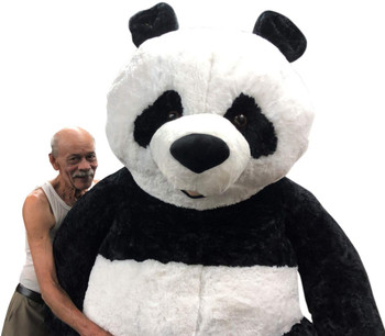 Giant Stuffed Panda 7 Feet Tall 84 Inches Soft 213 cm Big Plush Huge Stuffed Animal