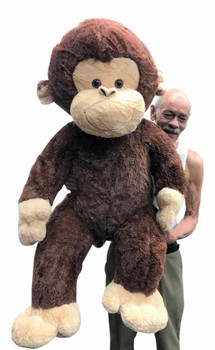 Big Plush® Giant Stuffed Monkey 4 Feet Tall Soft Brown Large Plush Animal 48 Inches New