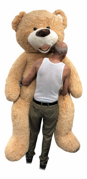 Big Plush® 7 Foot giant teddy bear is stuffed in the USA with pillow-soft stuffing. Makes a great gift. 1
