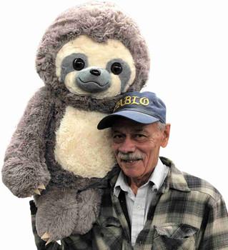 Big Plush 30 inch large stuffed Sloth jumbo stuffed animal