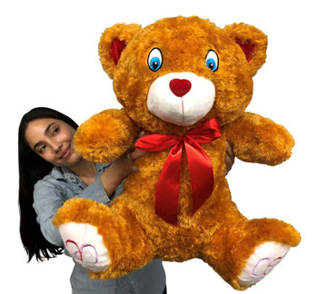 Big Plush® 2 Foot Teddy Bear 24 Inches Soft Brown with Red Nose
