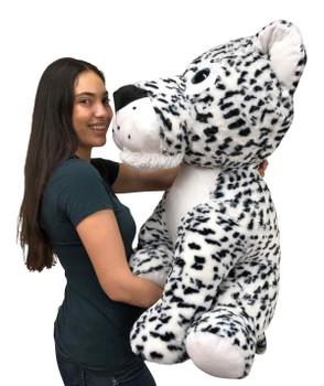 Big Plush®  Giant Stuffed Snow Leopard 36 Inches 91 cm Soft Big Plush Wild Cat Three Feet Tall New