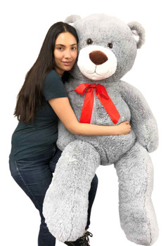 Big Plush Silver Gray Color 5 foot Giant Teddy Bear