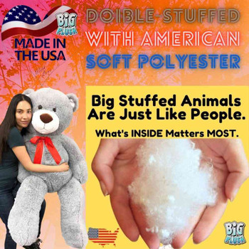 5ft Giant Stuffed Teddy Bear 60 Inches 153 cm Soft  Silver Gray Color Big Plush Huge Premium Quality Stuffed Animal