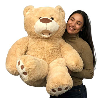 4ft Teddy Bear Giant Stuffed Plushie Beige Color