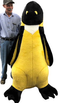 Giant 5 foot Stuffed Yellow Bellied Penguin Made in the USA