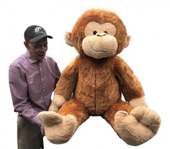 Huge stuffed monkey human size soft Big Plush animal