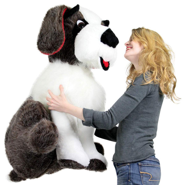 American Made Life Size Stuffed Saint Bernard 38 Inch Soft Big Plush Dog Whimsical Pooch