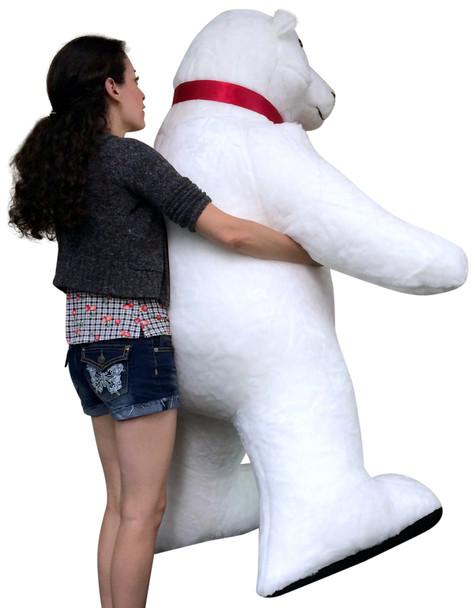 Giant Stuffed Polar Bear 5 Feet Tall Huge Stuffed Animal Made in USA America