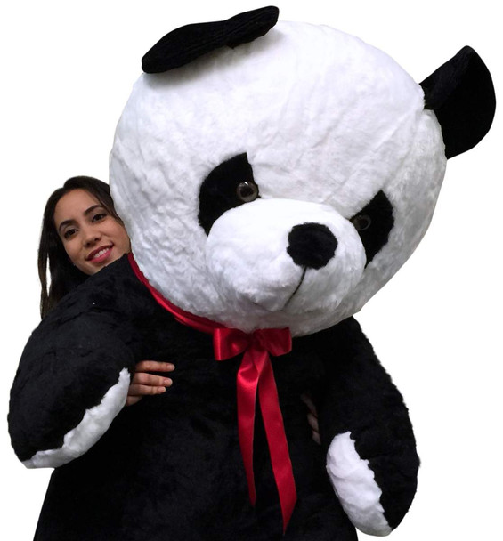 American Made Giant Stuffed Panda 54 Inch Soft Big Plush Bear Made in USA, Weighs 15 Pounds