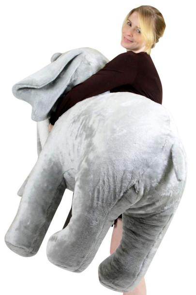 American Made Giant Stuffed Elephant 48 Inch Soft Big Plush Realistic Jungle Animal
