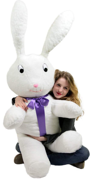 American Made Giant Stuffed Bunny 60 Inch Soft Big Plush 5 Foot Rabbit Made in USA
