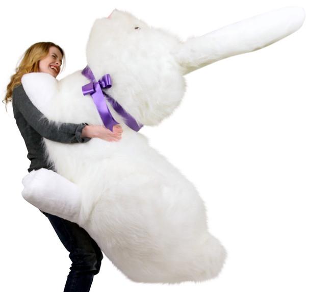 American Made Huge Stuffed Bunny 52 Inch Soft Gigantic Plush Rabbit Made in USA