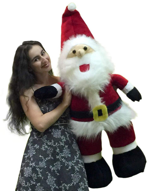 American Made Giant Stuffed Santa Claus 4 Feet Tall Soft Premium Quality Large Christmas Plush 48 Inches
