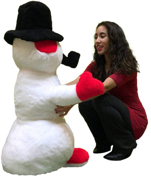 American Made Giant Stuffed Snowman 3 feet Tall Soft Big Plush Christmas Snuggle Buddy