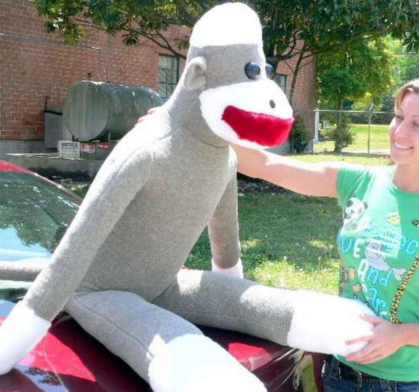 American Made Giant Sock Monkey 54 Inches Soft Made in the USA America