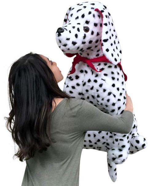 American Made Giant Stuffed Dalmatian 36 Inch Soft Big Plush Fire Dog