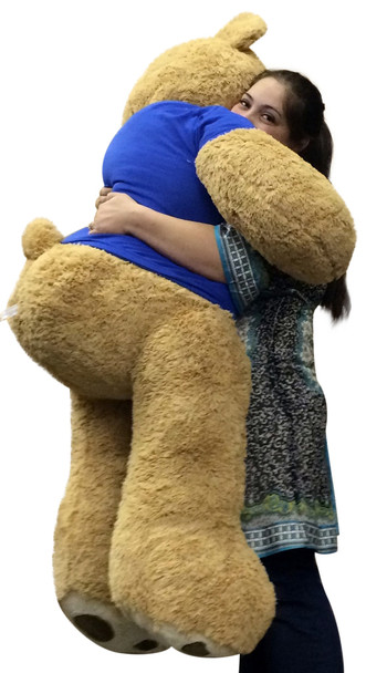 Giant Air Force Military Teddy Bear 5 Feet Tall Soft Wears Tshirt  SOMEONE IN THE AIR FORCE LOVES YOU