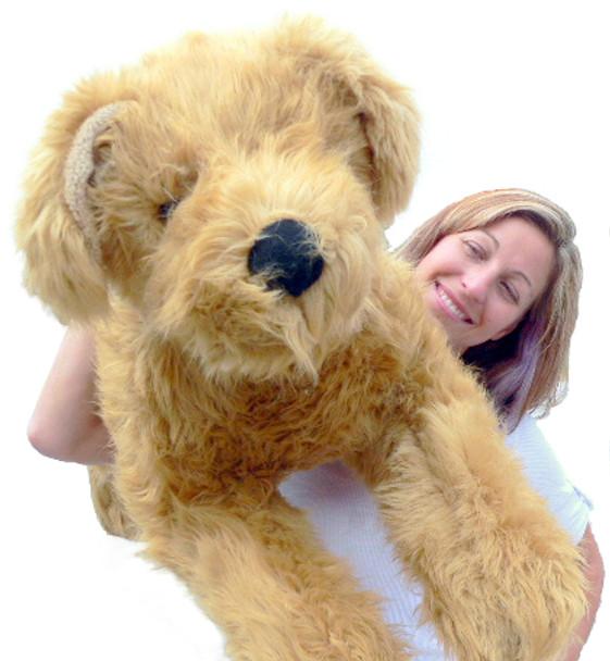 American Made Giant Stuffed Dog 42 inches Long Laying Down Golden Labrador Retriever Big Plush Dog