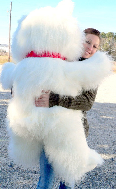 Valentine's Day Giant Teddy Bear 4 Foot White 48 Inches Soft Big Plush Animal Made in USA