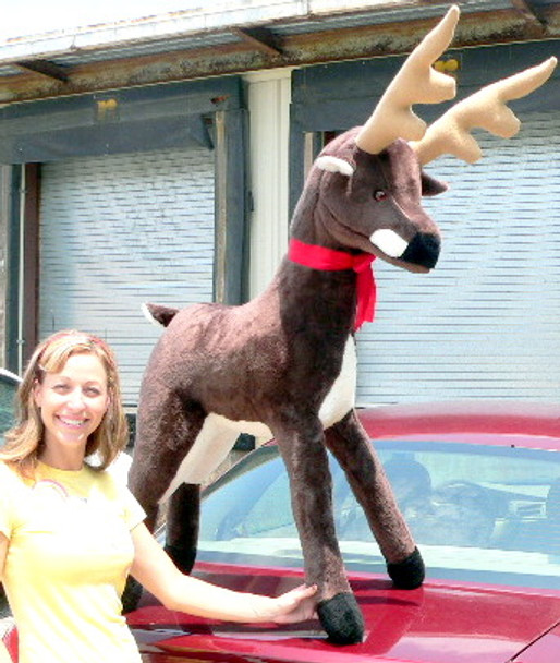 American Made Giant Stuffed Deer 55 Inches Made in the USA America