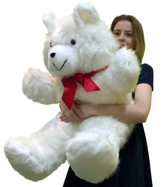 American Made Giant White Teddy Bear 36 Inch Soft 3 Foot Big Plush Stuffed Animal Made in USA