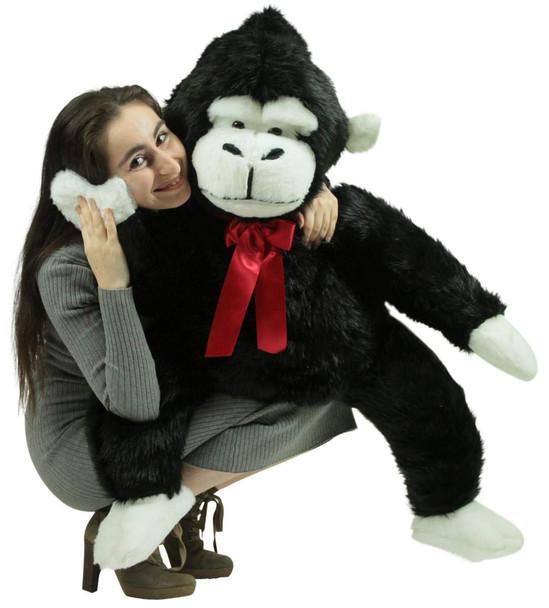 American Made Giant Stuffed Monkey 40 Inch Soft Black Big Stuffed Gorilla Made in USA