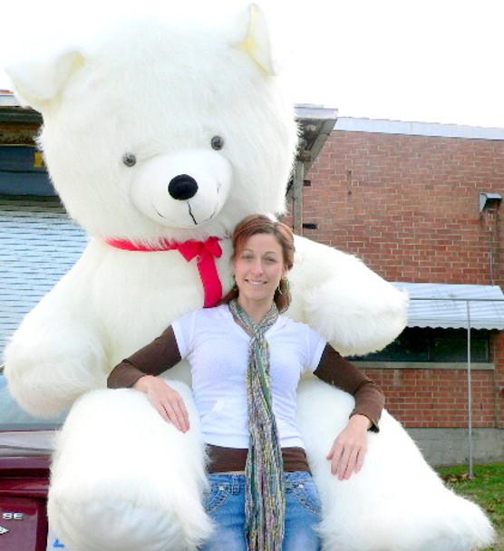American Made 8 Foot Giant Teddy Bear 96 Inch Soft White Teddybear Made in USA