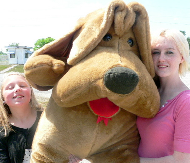 Big Plush Dog 5 Foot Brown Soft Huge Stuffed Puppy with Floppy Ears Made in USA