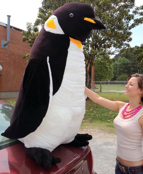 American Made Giant 5 Foot Stuffed Penguin Huge Soft Oversized Plush Animal
