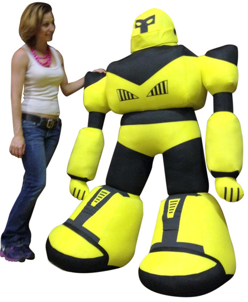 Giant Stuffed Robot 5 Feet Tall Enormous Soft Yellow Robo Plush 60 Inches