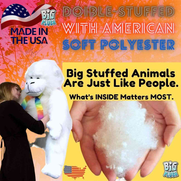 American Made Giant Stuffed White Gorilla Monkey 40 Inch Soft Big Plush Animal