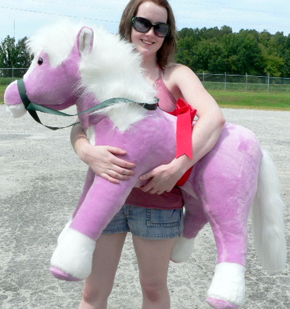 Giant Stuffed Horse 3-feet tall 3-feet wide Unique Purple color MADE IN USA