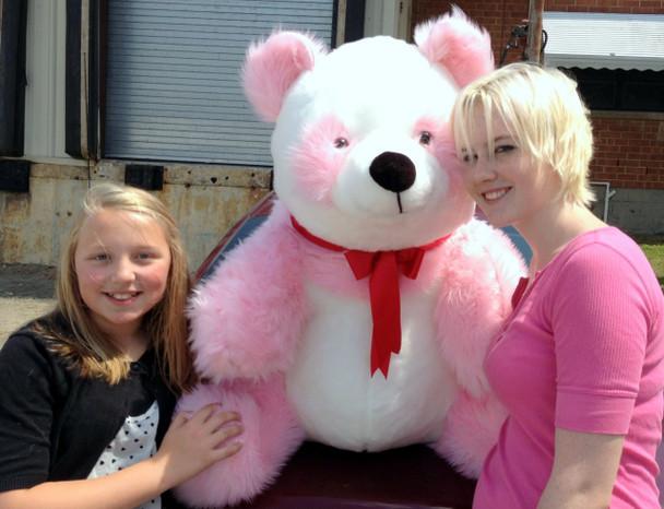 American Made Giant Stuffed Pink Panda Soft Jumbo Teddy Bear Made in USA