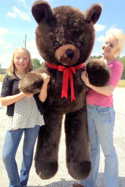 American Made Giant 6 Foot Teddy Bear Dark Brown Soft Stuffed Jumbo Teddy Bear Made in USA