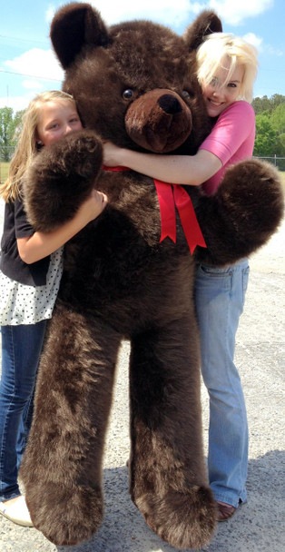 American Made Giant 6 Foot Teddy Bear Dark Brown Soft Stuffed Jumbo Teddy Bear Made in USA