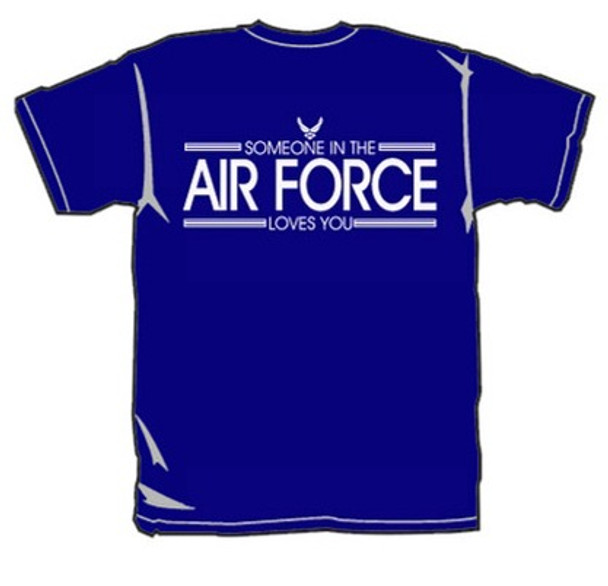 It's FREE to ADD this T-Shirt Design - Someone in the AIR FORCE Loves You - We'll Dress-Up your Stuffed Animal in this T-Shirt